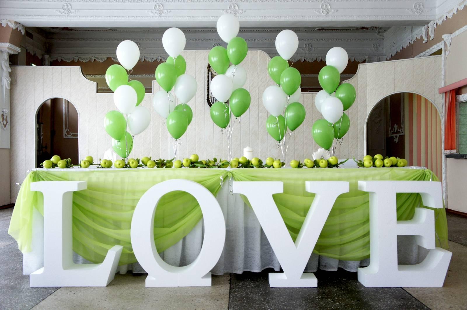 Объёмные буквы для свадьбы своими руками