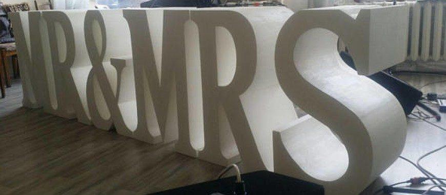 Объемные буквы из пенопласта